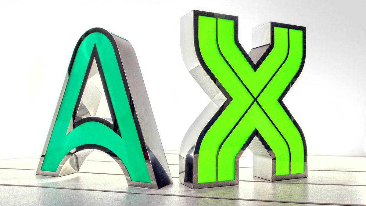 Figuras y letras corp reas en acero inoxidable concord - Fabricacion letras corporeas ...