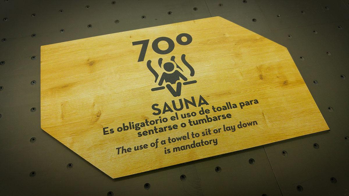 Señalética para sauna