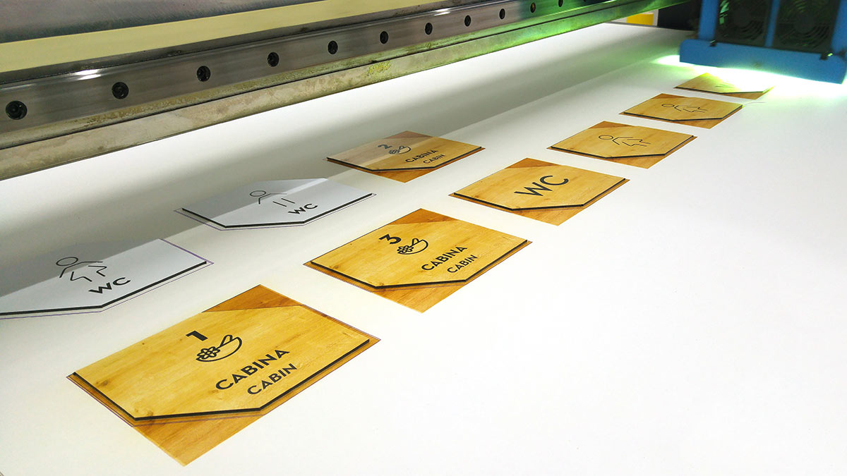 Impresión directa UVI con efecto madera sobre dibond